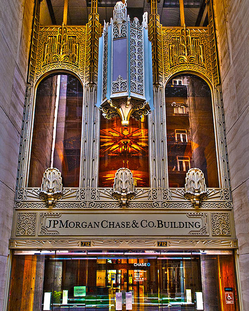 JPMorgan storefront Houston
