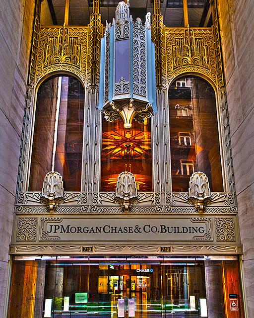 JPMorgan storefront Houston